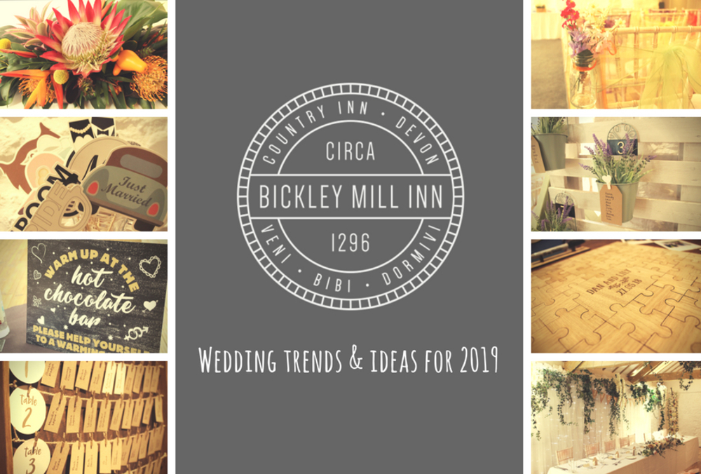 Wedding trends and ideas for 2019
