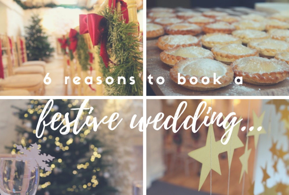 6 reasons to book a festive wedding…